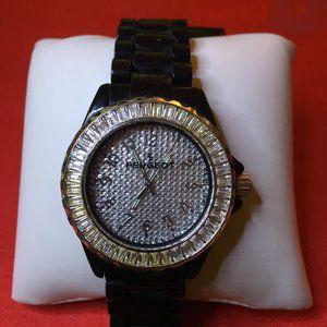 Peugeot Black Acrylic Band Crystal Watch
